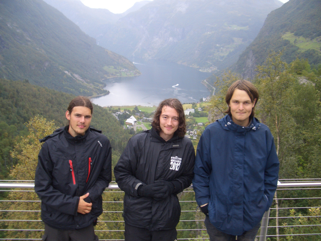 Die drei Fjellwanderer in Geiranger