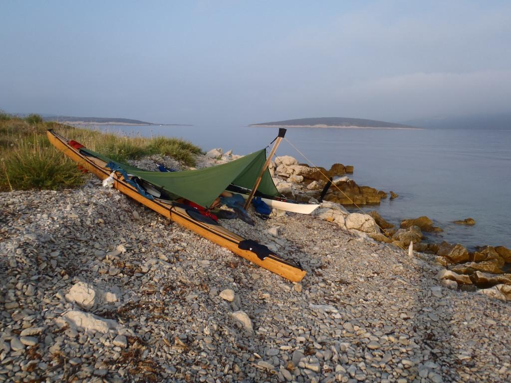 Übernachten am Strand der Adria