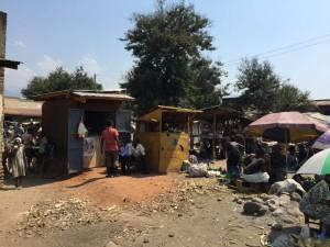 Hütten in Uganda