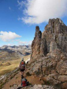 Die Berge des Maira Tals