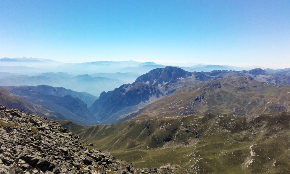 Die Alpen von Albanien