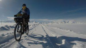 Mit dem Rad in Eis und Schnee