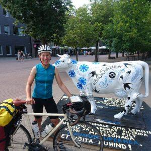 Anke Heyer mit ihrem Reiserad