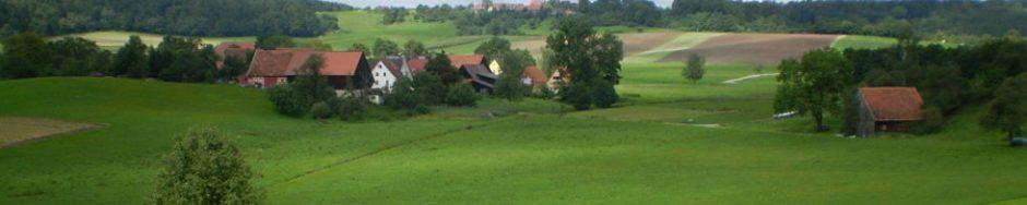 Ein Dorf zwischen Wiesen